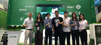CGT presents FIFA sport turf system at 126th Canton Fair